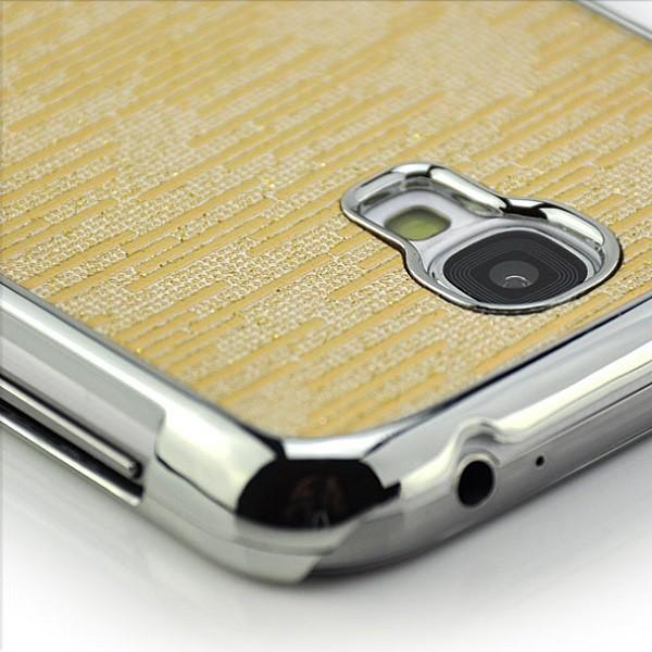Glitzer Streifen Case für Samsung Galaxy S4 Gold