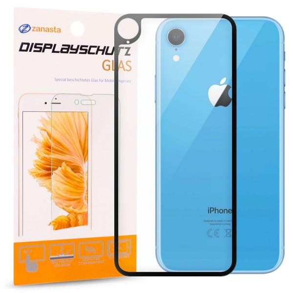 """Full Cover Rückseitenglas für Apple iPhone XR (6,1"""") - Schwarz"""