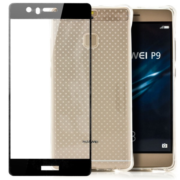 Silikon Shockproof Case für Huawei P9 - Transparent + FC Glas S