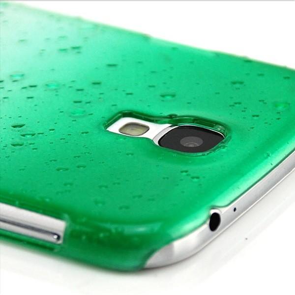Regentropfen Hard Case für Samsung Galaxy S4 Grün