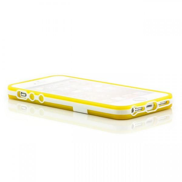 Silikon Stand Case für Apple iPhone 5 & 5S Gelb