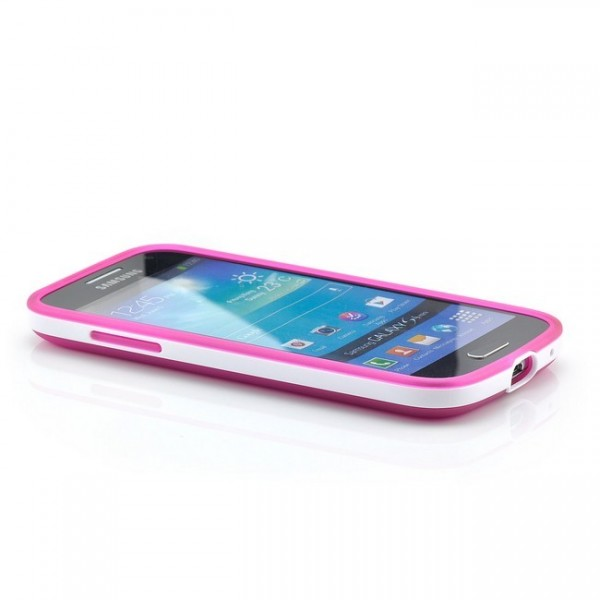 Silikon Back Cover für Samsung Galaxy S4 Mini Pink