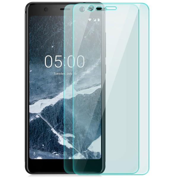 2x Curved Displayschutzglas für Nokia 5.1 - Transparent