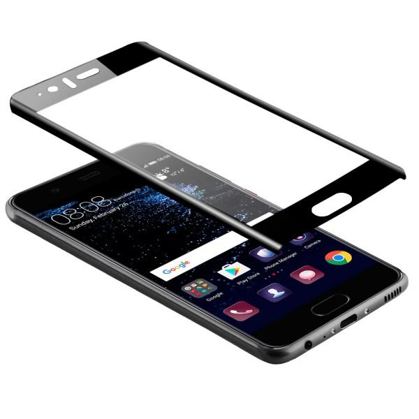 Curved Displayschutzglas für Huawei P10 - Schwarz