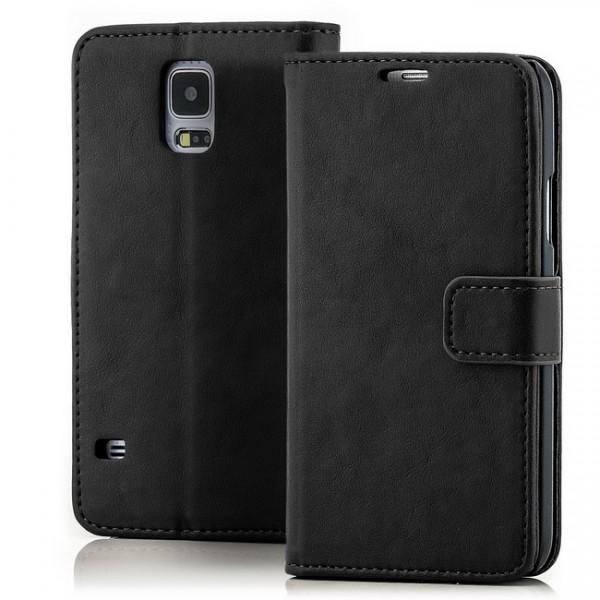 Business Schutztasche für Samsung Galaxy S5 Schwarz