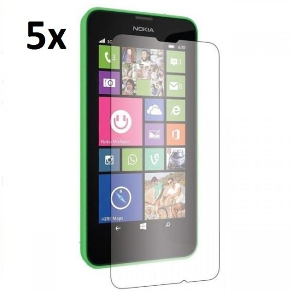 5x Displayschutzfolie für Nokia Lumia 630 Klar