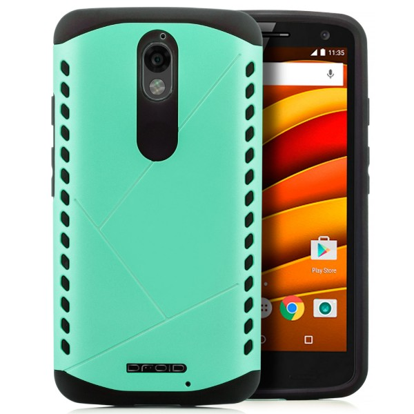 Combo Style Back Cover für Motorola Moto X Force - Grün