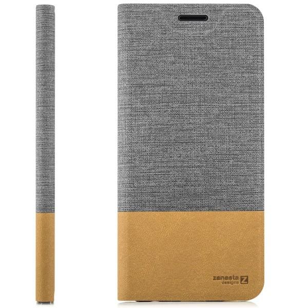 Kunstleder SlimTasche für Samsung Galaxy S10e - Grau
