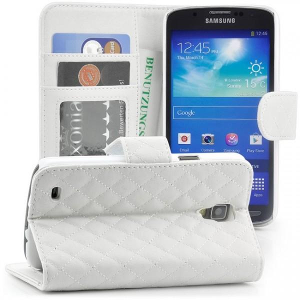 Flip Handytasche für Samsung Galaxy S4 Weiß