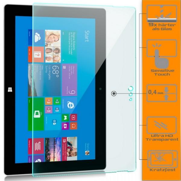 Displayschutzglas für Microsoft Surface 2 Schutzfolie Glasfolie