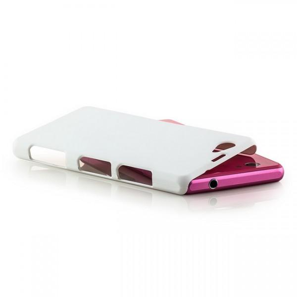 Hard Cover für Sony Xperia Z1 Compact Weiß