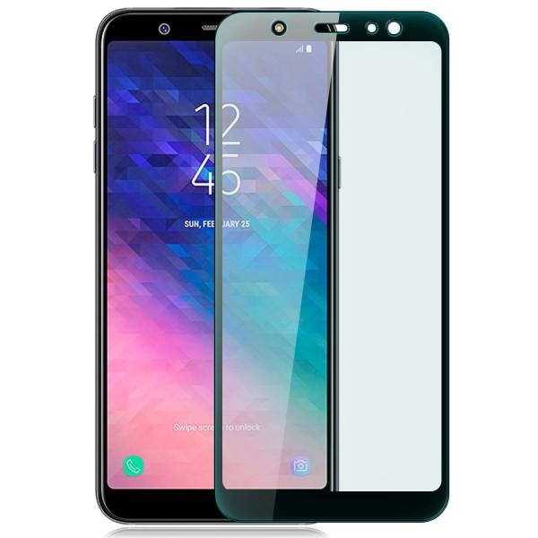 Curved Displayschutzglas für Samsung Galaxy A6 Plus / A6+ (2018) - Schwarz