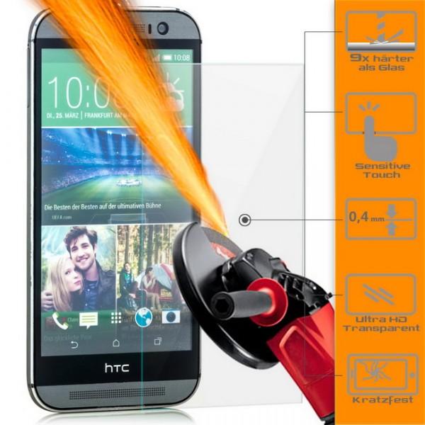 2x Displayschutzglas für HTC One M8