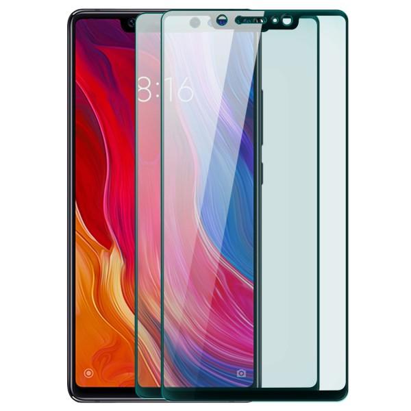 2x Full Cover Displayschutzglas für Xiaomi Mi 8 SE - Schwarz