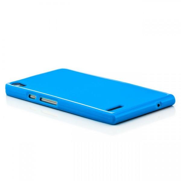 Silikon Back Cover für Huawei Ascend P6 Blau