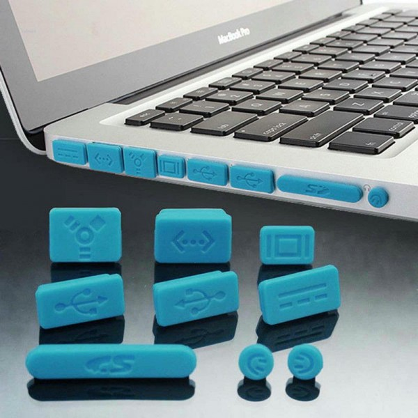 Silikon Abdeckung 9-teilig für MacBook - Blau