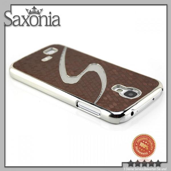 S-Line Cells Back Cover für Samsung Galaxy S4 Braun