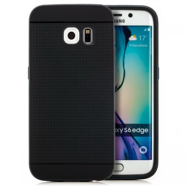 Silikon Case für Samsung Galaxy S6 Edge Schwarz-Dunkelblau