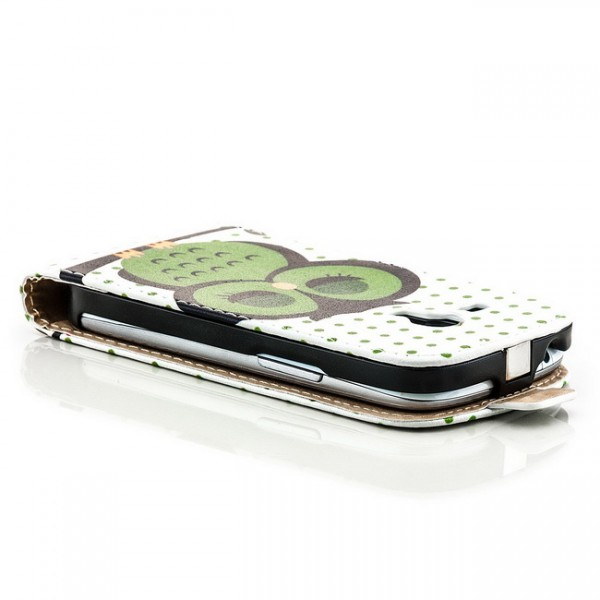 Owl Flip Case für Samsung Galaxy S3 Mini Grün