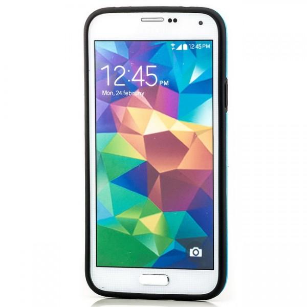 Cubes TPU Back Cover für Samsung Galaxy S5 Schwarz-Blau