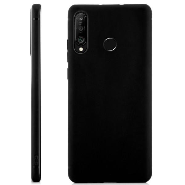Handyhülle aus Silikon für Huawei P30 - schwarz