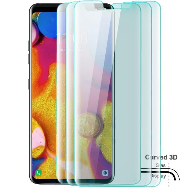 3x Curved Displayschutzglas für LG V40 - Transparent