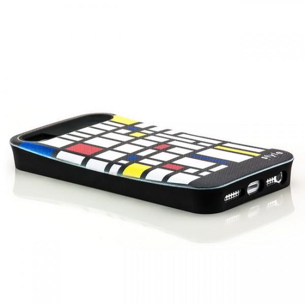 Mondrian Style Back Cover für Apple iPhone 5 & 5S Abstrakt Kästchen