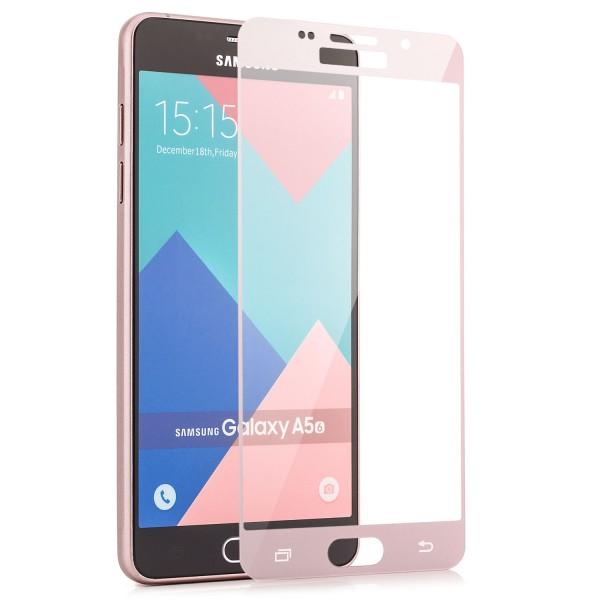 Full Displayschutzglas für Samsung Galaxy A5 (2016) - Rosa