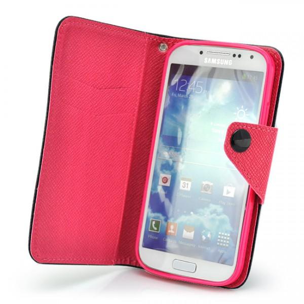 Contrast Colour Tasche für Samsung Galaxy S4 Schwarz