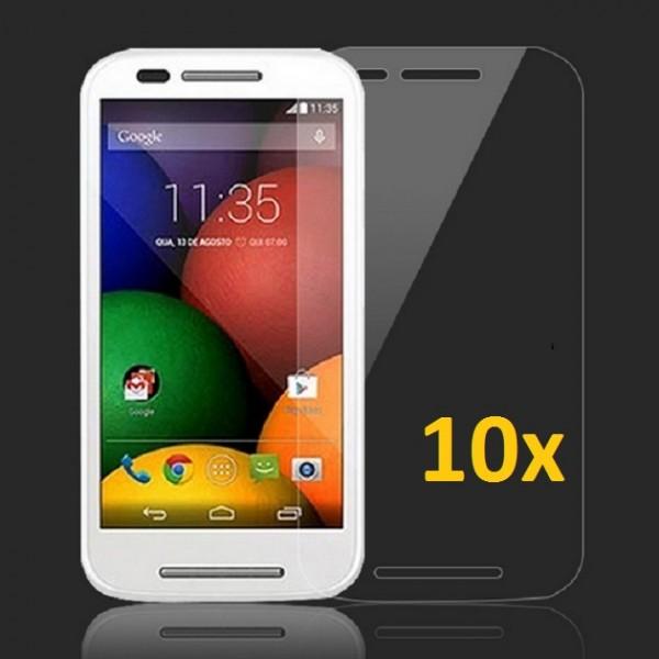 10x Displayschutzfolie für Motorola Moto E Klar