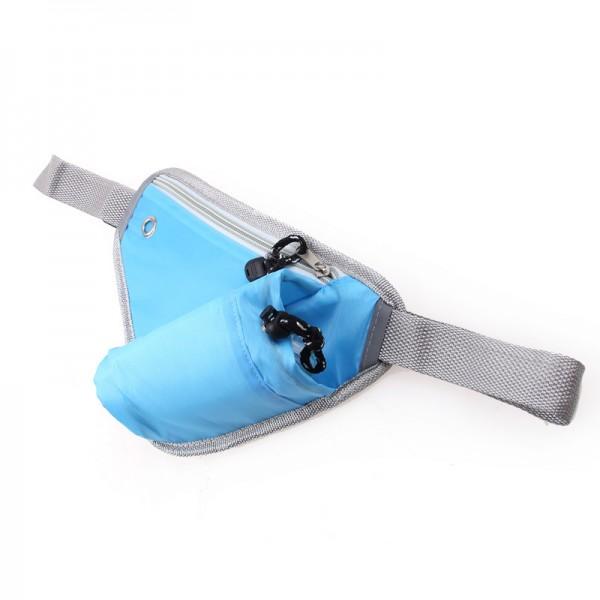 Sport Umhängetasche mit Flaschenhalter - Blau
