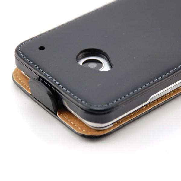 Flip Case mit Magnetverschluss für HTC One M7 Schwarz