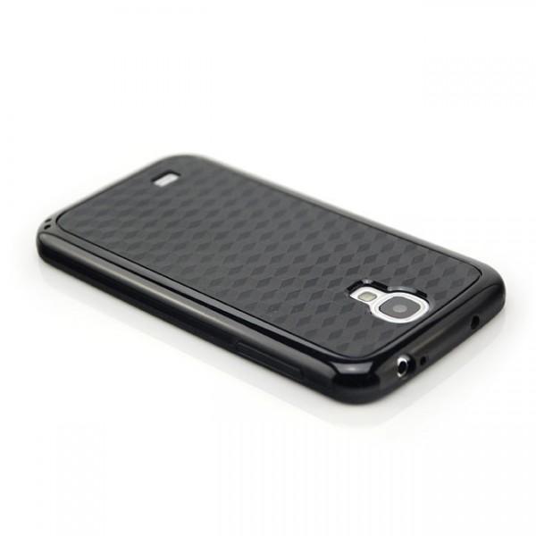 Cubes TPU & Silikon Case für Samsung Galaxy S4 Schwarz