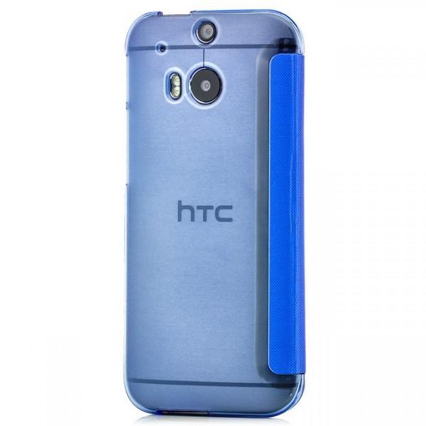 TPU Flip Tasche für HTC One M8 Blau
