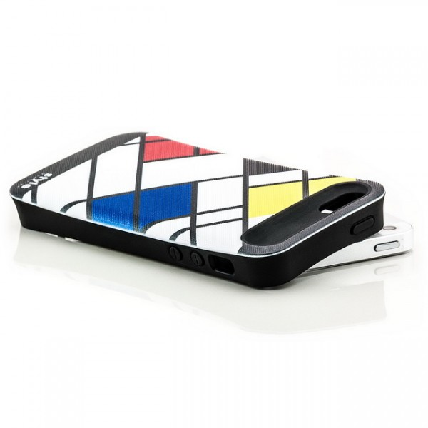 Mondrian Style Back Cover für Apple iPhone 5 & 5S Abstrakt Diagonal