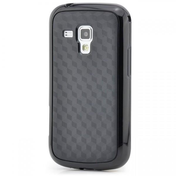 Cubes TPU Back Cover für Samsung Galaxy S Duos Schwarz