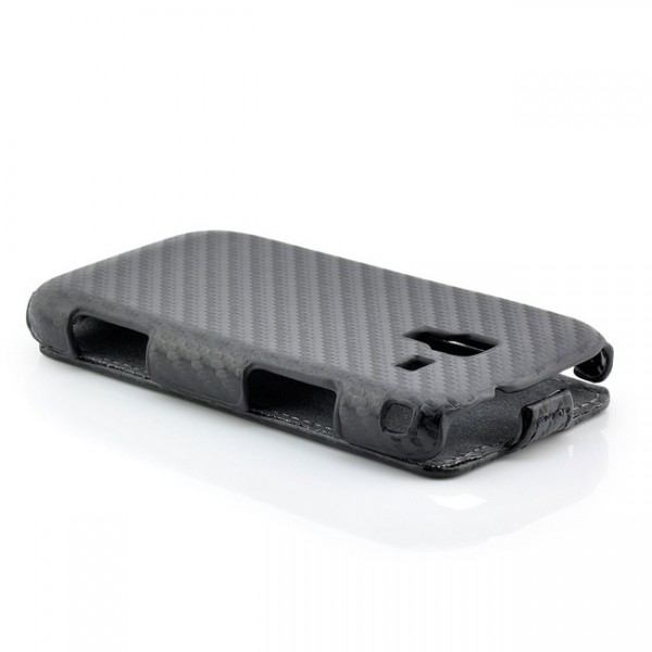 Carbon Optik Case für Samsung Galaxy Ace 2 Schwarz