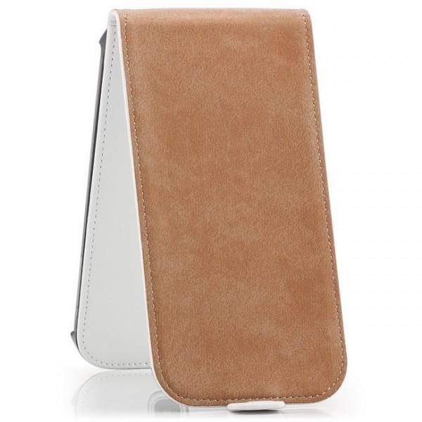 Flip Case mit Magnetverschluss für Samsung Galaxy S4 Weiß