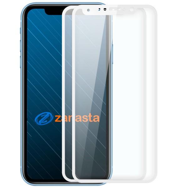 "2x Full Cover Displayschutzglas für Apple iPhone XS Max (6,5"") - Weiß"