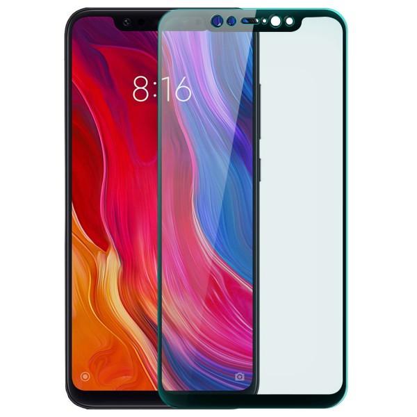 Full Cover Displayschutzglas für Xiaomi Mi 8 - Schwarz