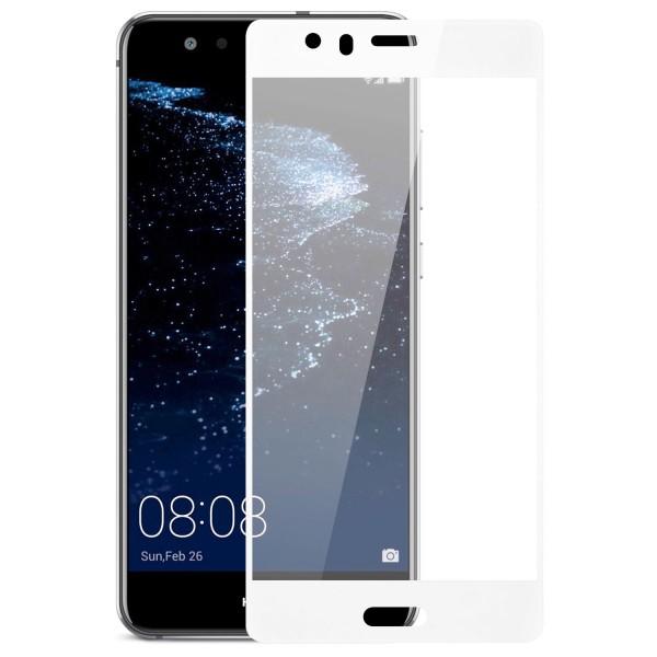 Full Cover Displayschutzglas für Huawei P10 - Weiss