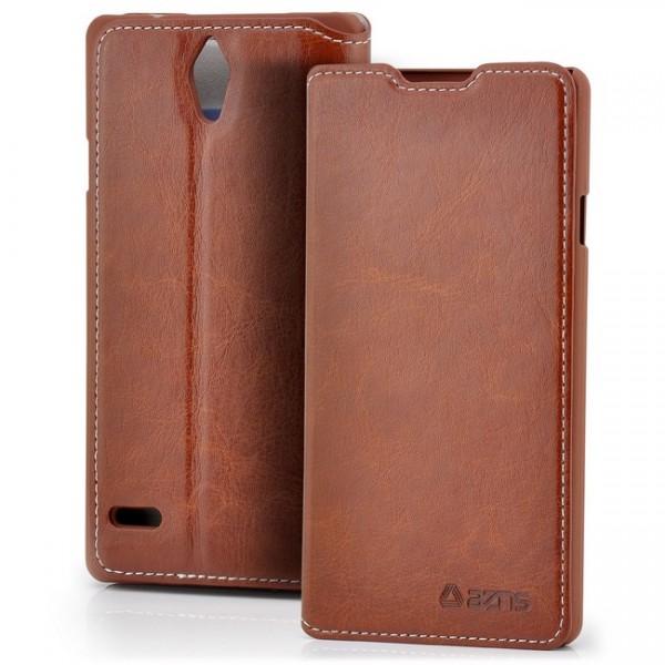 AZNS Flip Tasche für Huawei Ascend G700 Braun