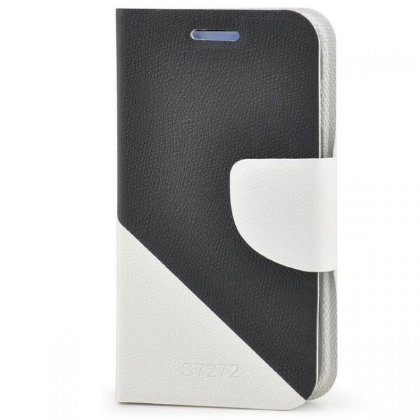 Dual Colours Tasche für Samsung Galaxy Ace 3 Schwarz-Weiß