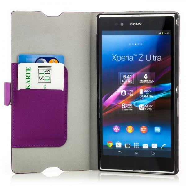 Slim Handytasche für Sony Xperia Z Ultra Violett