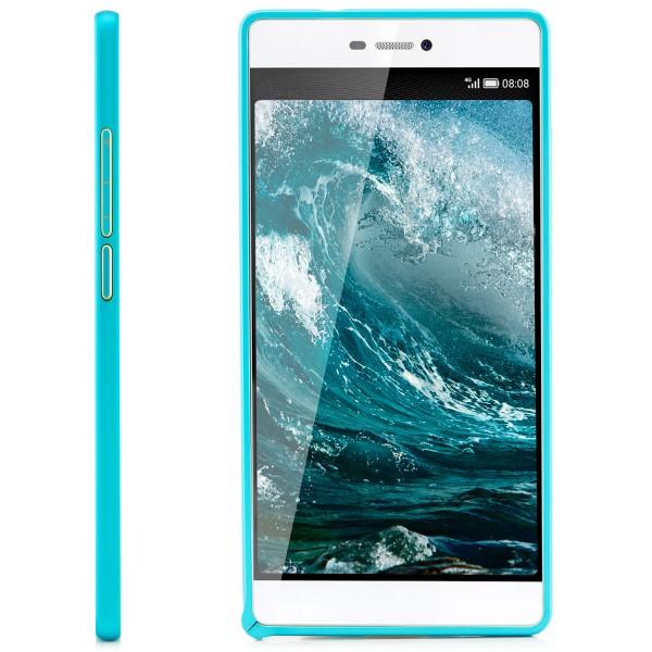 Ultra Slim Aluminium Bumper Klinke für Huawei P8 - Blau