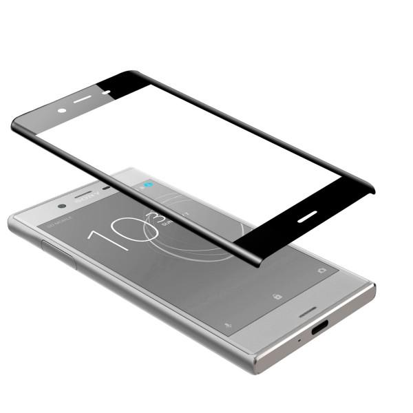 Curved Displayschutzglas für Sony Xperia XZs - Schwarz