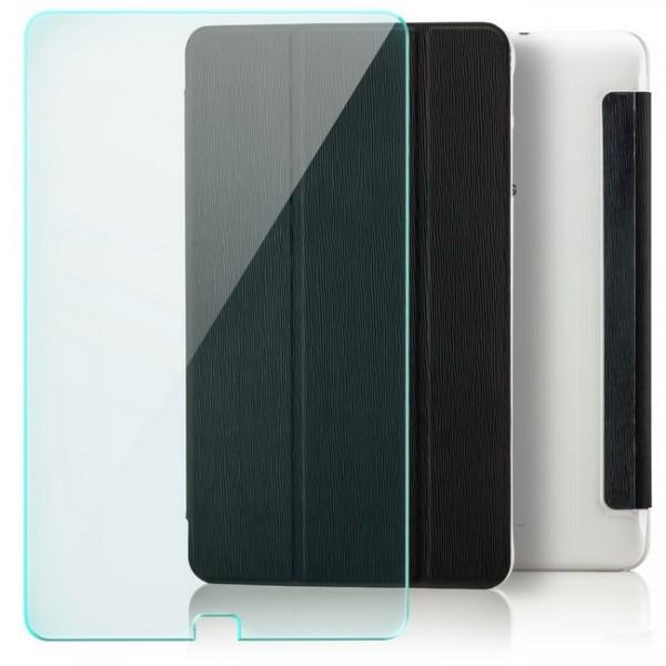 Slim Smart Case für Samsung Galaxy Tab E 9.6 - Schwarz + GLAS