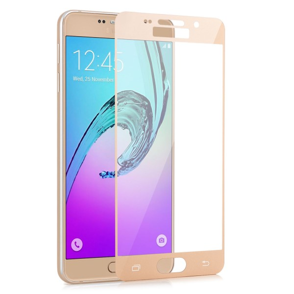 Full Displayschutzglas für Samsung Galaxy A3 (2016) - Gold