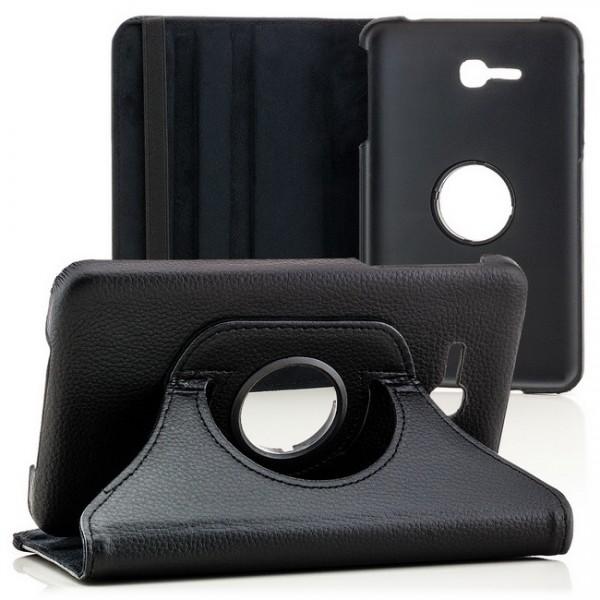 360° Tasche für Samsung Galaxy Tab 3 Lite Schwarz