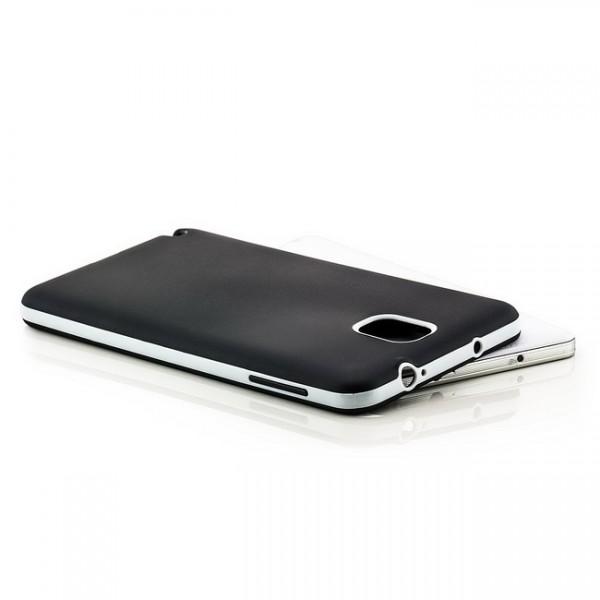 Silikon Back Cover für Samsung Galaxy Note 3 Schwarz